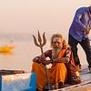 Sadhu Coming Ashore