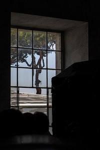 Looking out from the Vatican museum