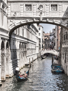 Bridge of Sighs connecting prison to Doge's Palace