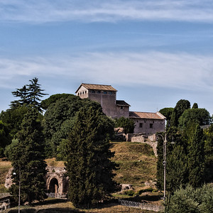 View from Coloseum to Palatine Hill