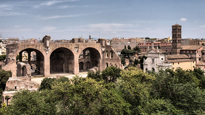 Views from  Palatine Hill over the Forum