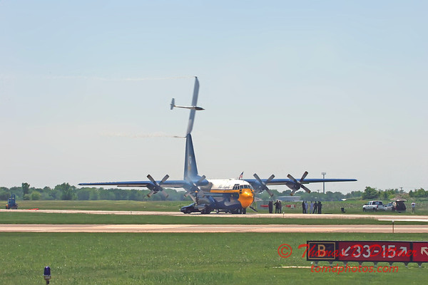 "2006 Quad Cities Air Show 77 - Jet Powered Glider over C130 Hercules ""Fat Albert"""