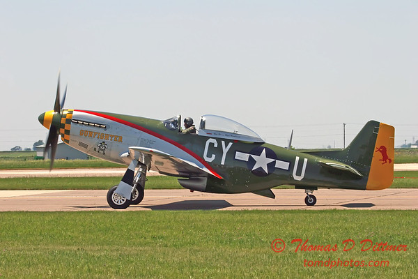 """2006 Quad Cities Air Show 83 - P51 Mustang """"Gunfighter"""""""
