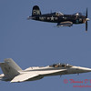 2006 TCF Bank Air Expo 539 - US Navy Tailhook Legacy Flight - F18 Hornet & F4U Corsair
