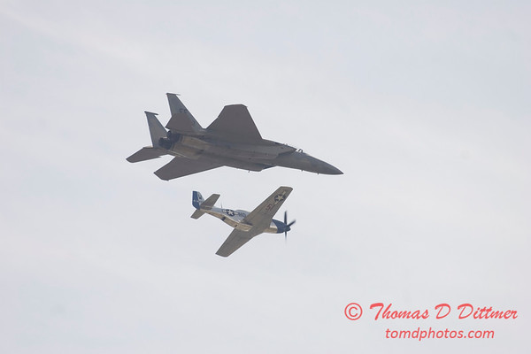 2006 TCF Bank Air Expo 771 - US Air Force Heritage Flight - P51 Mustang & F15 Eagle
