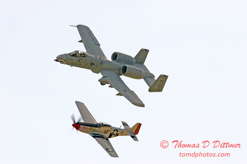 2006 River City Air Expo 626 - P51 Mustang A10 Warthog - Heritage Flight