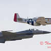 2007 River City Air Expo - 486 - F16 Falcon & P51 Mustang - Heritage Flight