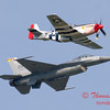2007 River City Air Expo - 492 - F16 Falcon & P51 Mustang - Heritage Flight