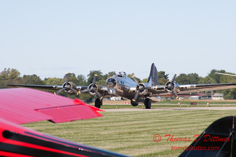 349 - A Boeing B17 taxies for departure at the South East Iowa Air Show in Burlington Iowa
