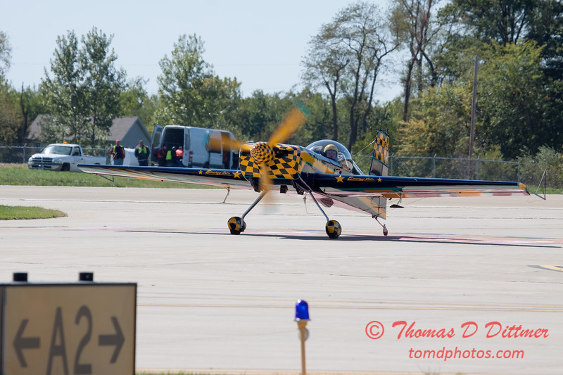 676 - Darrell Massman in his S330 returns and taxies to parking Panzl at the South East Iowa Air Show in Burlington Iowa