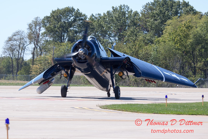 582 - TBM returns and taxies for parking at the South East Iowa Air Show in Burlington Iowa