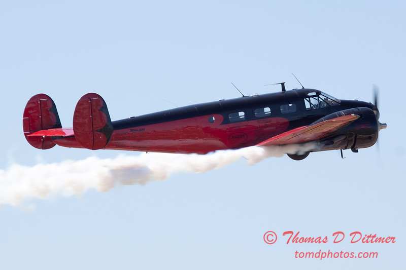 "855 - Matt Younkin performs for fans in his Beechcraft BE18 ""Twin Beech"" at the South East Iowa Air Show in Burlington Iowa"