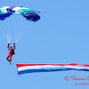 95 - Members of the Liberty Parachute Club drop into the South East Iowa Air Show in Burlington Iowa