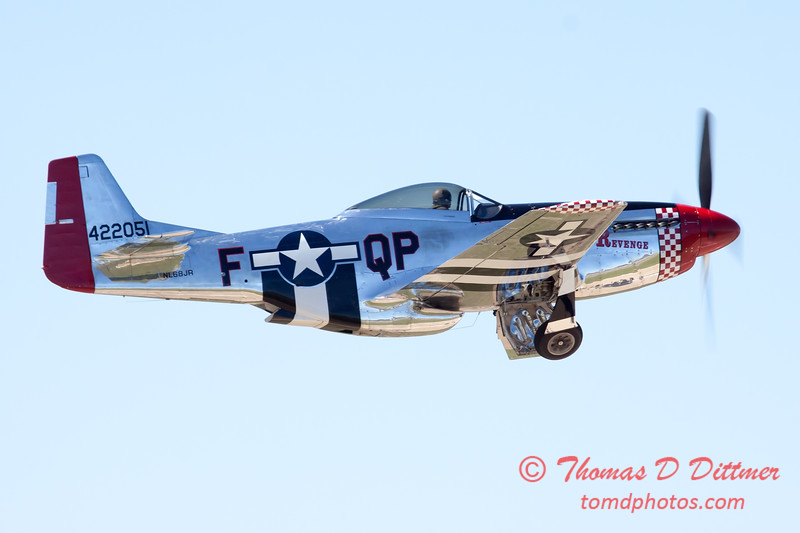 441 - P51 Mustang departure at the South East Iowa Air Show in Burlington Iowa
