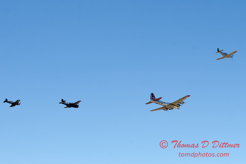 492 - B17 - F4U - P51 - TBM - Special Formation Fly By at the South East Iowa Air Show in Burlington Iowa