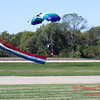 101 - Members of the Liberty Parachute Club drop into the South East Iowa Air Show in Burlington Iowa