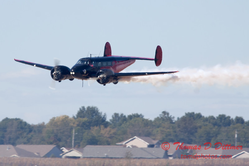 "867 - Matt Younkin performs for fans in his Beechcraft BE18 ""Twin Beech"" at the South East Iowa Air Show in Burlington Iowa"