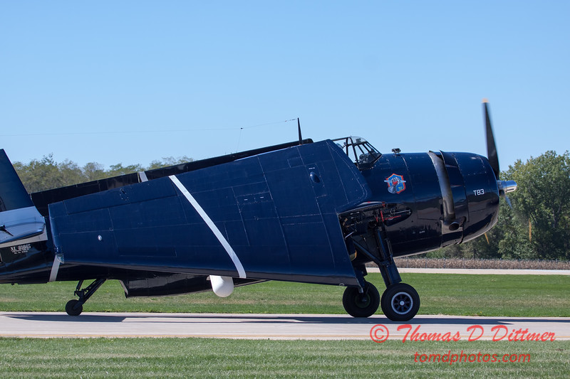 589 - TBM returns and taxies for parking at the South East Iowa Air Show in Burlington Iowa