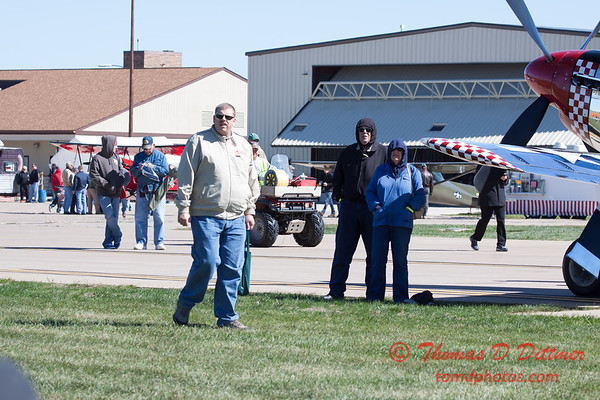 73 - Air show fans and spectators make their way to the showline at the South East Iowa Air Show in Burlington Iowa