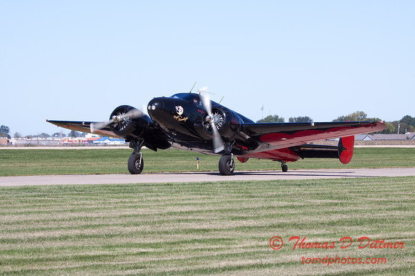 69 - Matt Younkin repositions his BE18 Twin Beech at the South East Iowa Air Show in Burlington Iowa