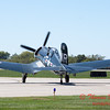 340 - A F4U Corsair taxies for departure at the South East Iowa Air Show in Burlington Iowa