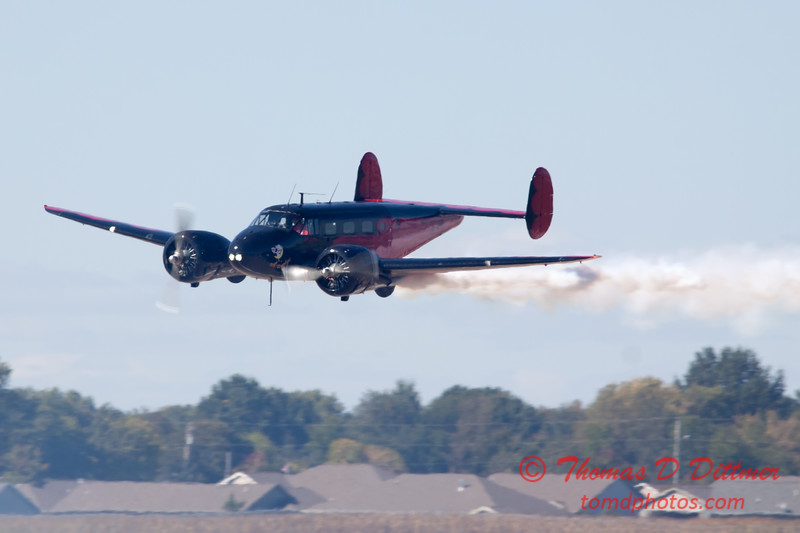 """868 - Matt Younkin performs for fans in his Beechcraft BE18 """"Twin Beech"""" at the South East Iowa Air Show in Burlington Iowa"""