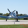 341 - A F4U Corsair taxies for departure at the South East Iowa Air Show in Burlington Iowa