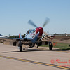 30 - A North American P51 Mustang taxies in to parking at the South East Iowa Air Show in Burlington Iowa