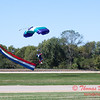 100 - Members of the Liberty Parachute Club drop into the South East Iowa Air Show in Burlington Iowa