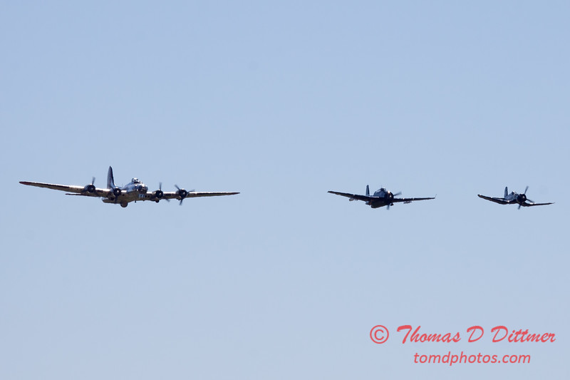 483 - B17- F4U - TBM - Special Formation Fly By at the South East Iowa Air Show in Burlington Iowa