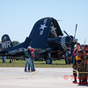 63 - A former US Marine Fighter (F4U Corsair) waits to perform in the South East Iowa Air Show in Burlington Iowa