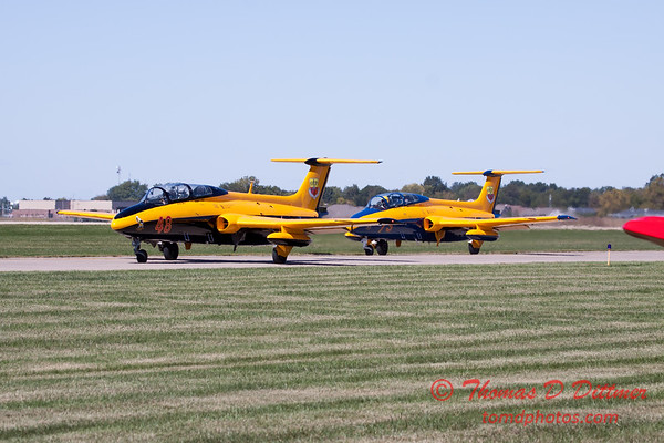 273 - The University of Iowa Operator Performance Laboratory L29 Delphins taxi for departure at the South East Iowa Air Show in Burlington Iowa