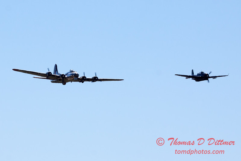 485 - B17- TBM - Special Formation Fly By at the South East Iowa Air Show in Burlington Iowa