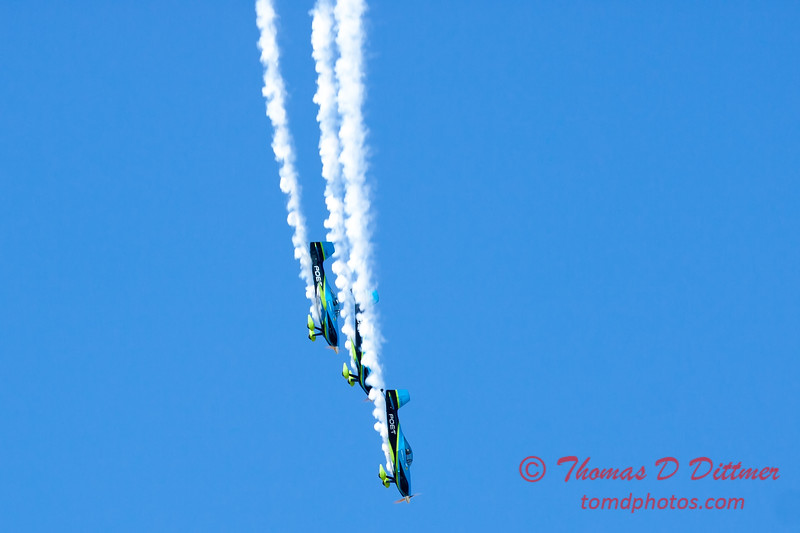 135 - The Vanguard Squadron perform in their ethanol powered RV3's at the South East Iowa Air Show in Burlington Iowa