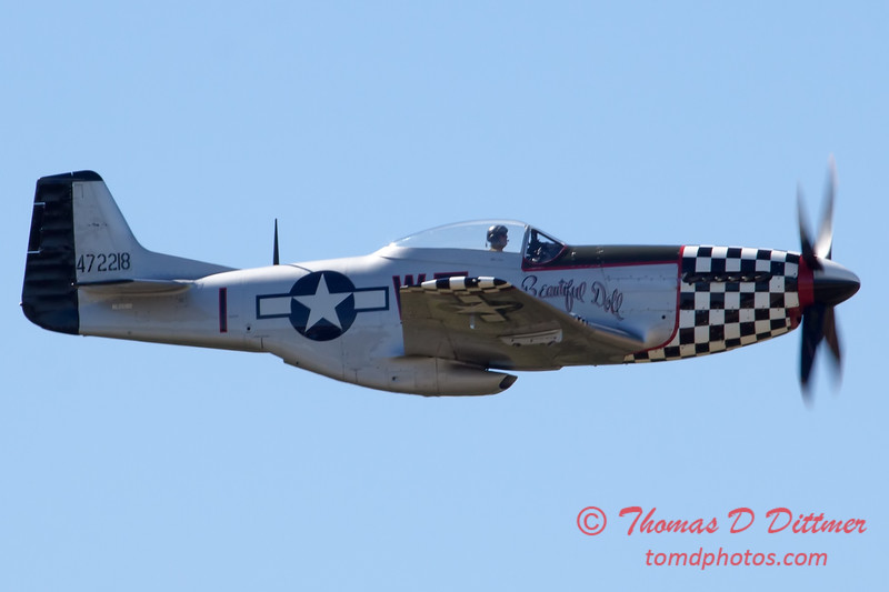 534 - P51 Mustang Fly By at the South East Iowa Air Show in Burlington Iowa
