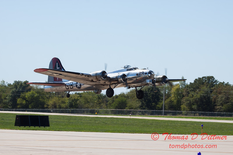 403 - B17 Flying Fortress departure at the South East Iowa Air Show in Burlington Iowa
