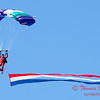 94 - Members of the Liberty Parachute Club drop into the South East Iowa Air Show in Burlington Iowa