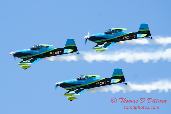 125 - The Vanguard Squadron perform in their ethanol powered RV3's at the South East Iowa Air Show in Burlington Iowa