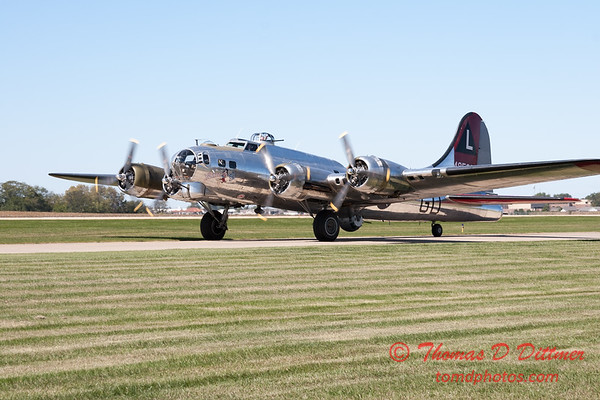 353 - A Boeing B17 taxies for departure at the South East Iowa Air Show in Burlington Iowa