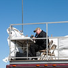 55 - Air Show announcer Phil Dacy prepares for the day's events at the South East Iowa Air Show in Burlington Iowa