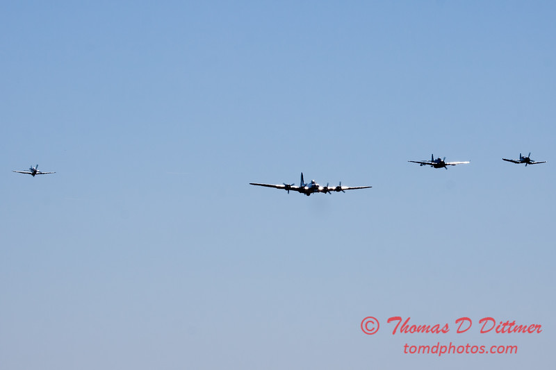 479 - B17- F4U - P51 - TBM - Special Formation Fly By at the South East Iowa Air Show in Burlington Iowa