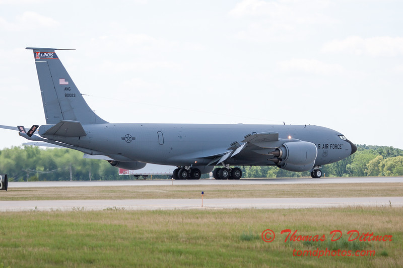 492 -  US Air Force KC 135 lands after the aerial demonstration at the 2012 Rockford Airfest - Chicago Rockford International Airport - Rockford Illinois - Sunday June 3rd 2012