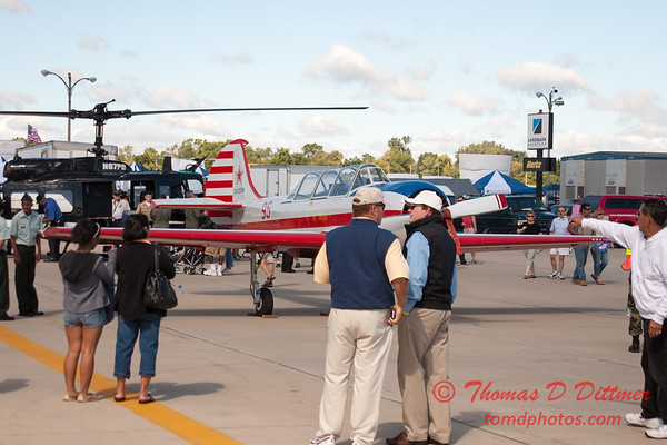 42 - Nanchang CJ6 trainer aircraft and Bell UH1 Iroquois Helicopter on display at Wings over Waukegan 2012