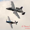 """769 - Vlado Lenoch in his P-51 Mustang and A-10 East in the """"Heritage Flight"""" at Wings over Waukegan 2012"""