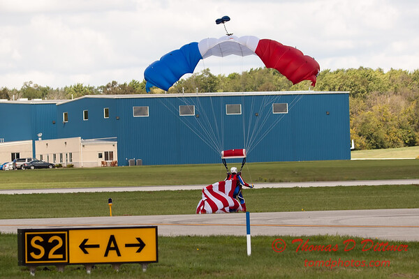 121 - Liberty Parachute Team member descends into Wings over Waukegan 2012