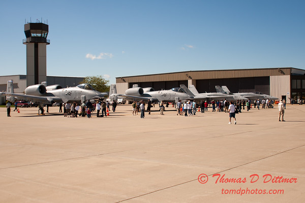 19 - VFA 106 Hornet East - F/A-18 and A-10 East Thunderbolt II (Warthog) on display at Wings over Waukegan 2012