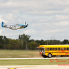"913 - The ""RACE"" is on! Paul Stender and the Indy Boys School bus against Vlado Lenoch and his P-51 at Wings over Waukegan 2012"