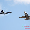 1306 - F4U Corsair and VFA 106 Hornet East F/A-18 US Navy Legacy Flight performing at Wings over Waukegan 2012