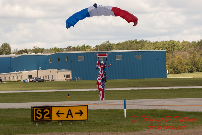 119 - Liberty Parachute Team member descends into Wings over Waukegan 2012