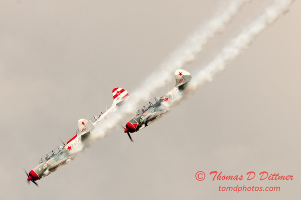 375 - Team Aerostar in Yakovlev Yak-52's perform at Wings over Waukegan 2012